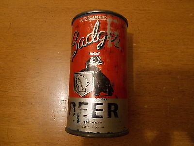 Badger KEGLINED 4 Step Instructional Beer Can Flat Vintage Whitewater Wisconsin