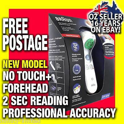 Braun NTF3000 No Touch Plus Forehead Digital Baby Child & Adult Thermometer NEW