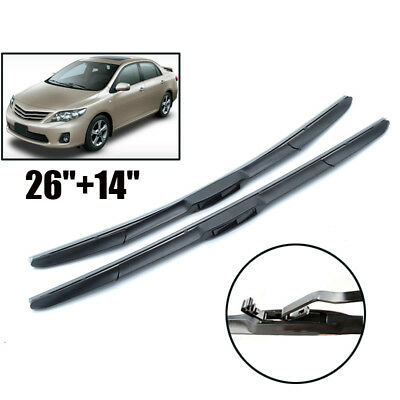 Front Windshield Wiper Blades HYBRID 3 Section Fit For Toyota Corolla 2007-2013
