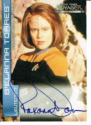 Star Trek Voyager Closer To Home, Cth Autograph Card A8 Roxann Dawson