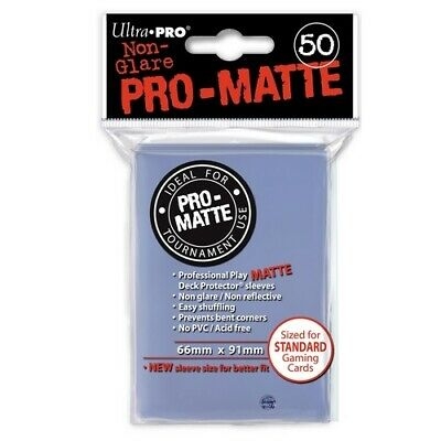 Ultra Pro 50 Pro Matte-Standard Deck Protector Sleeves Clear 84490
