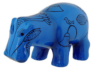 Egyptian Blue Hippo Figurine. Ancient Egypt Hippopotamus Statue Collectible Gift
