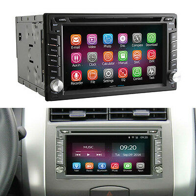 Android 4.4 Quad Core 2G/16GB Car Stereo DVD Player 2 Din WiFi BT GPS Navigation