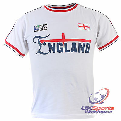 Official Rugby World Cup 2011 printed England mens t-shirt rrp £25