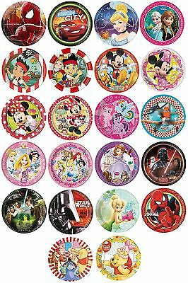8 PAPER PLATES (23cm) LICENSED CHARACTER DESIGNS Range (Birthday Party){SetB}