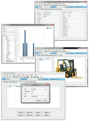Backhoe Excavator Forklift MORE ++ Heavy Industrial Equipment Tracking Software