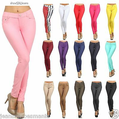 Women Skinny Colorful Jeggings Soft Stretchy Pant Leggings Regular to PLUS Size