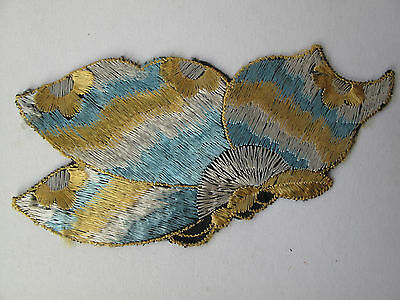 VINTAGE 1930's EMBROIDERED APPLIQUÉ DECORATION -BUTTERFLY 1