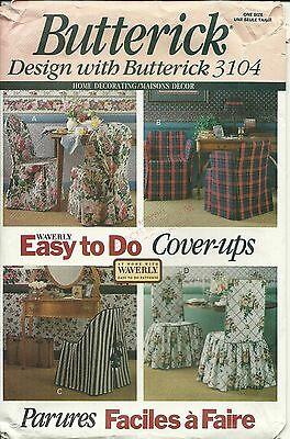 Butterick Sewing Pattern 3104 Home Decorating Cover Ups New Uncut