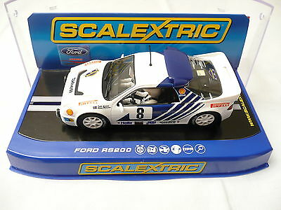 Slot car 1:32 Scalextric FORD RS 200 Rally of Sweden 1986