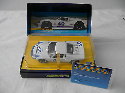 Slot car 1:32 SCALEXTRIC Ford GT40 Le Mans 1966 #40 Ed. Limitata Cert. Limited
