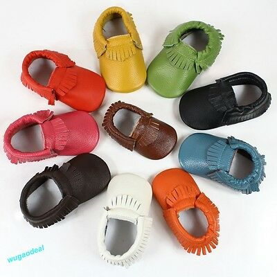 Baby Tassel Leather Shoes Infant Boy Girl Toddler Moccasin Shoes 0-24Months New