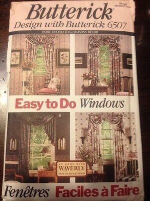 Butterick 6507 Easy to Do Windows Valances & Curtains Sewing Pattern UNCUT