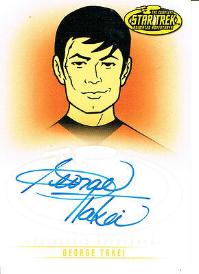 Star Trek The Original Series Art And Images Autograph Card A18 George Takei