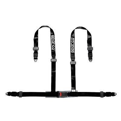 Sparco 4 Point Driver Black Clubman Bolt In ECE Approved Seat Harness - 4604BV