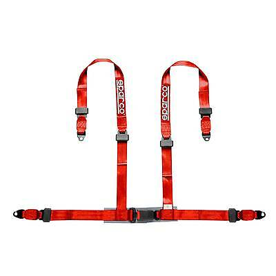 Sparco 4 Point Driver Red Clubman Bolt In ECE Approved Seat Harness - 4604BV