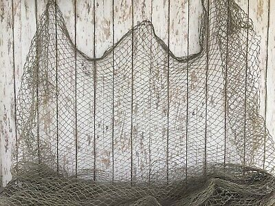 Old Fishing Net ~10'x10' Knotless ~Vintage Fish Netting ~Decorative Photo Prop
