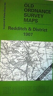OLD ORDNANCE SURVEY MAPS REDDITCH & DISTRICT & PLAN HENLEY ARDEN 1907 Sheet 183