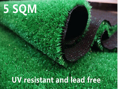 New Artificial Grass Lawn Outdoor Indoor Synthetic Turf 5M 10mm Lawn Flooring