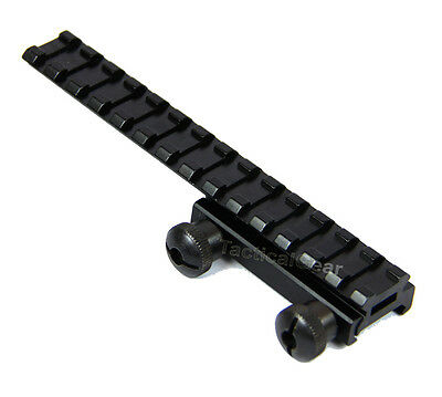 """Flat top 1/2"""" inch See Through Riser Scope Rail Mount with Extension"""