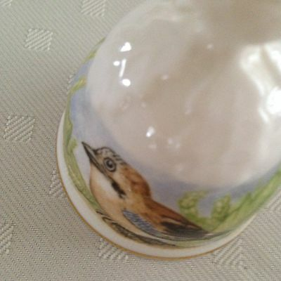 OAKLEY FINE BONE CHINA COLLECTOR BELL FRIENDS OF THE FOREST YOUNG ROGUE BIRD