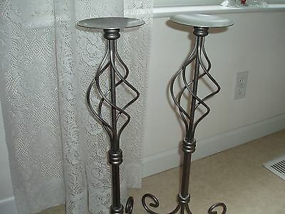 PARTYLITE 2 PARAGON PILLAR STANDS VERY RARE & RETIRED