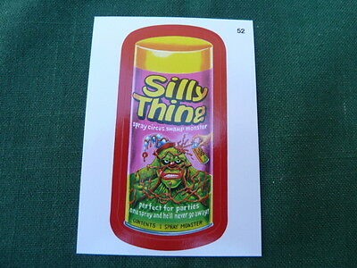 """Wacky Packages 11 (ANS11) Silly Thing - Red Parallel Sticker # 52 """"A Back"""""""