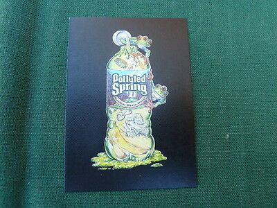 """Wacky Packages 11 (ANS11) Polluted Spring - Black Canvas Card # 14 """"A Back"""""""