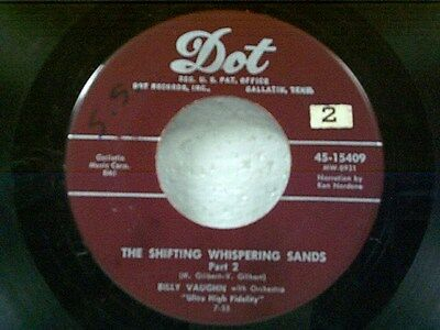 """BILLY VAUGHN """"THE SHIFTING WHISPERING SANDS / PART 2"""" 45"""