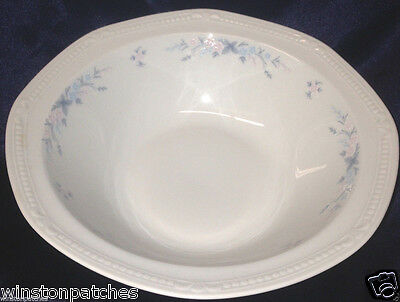 "Mitterteich Pink Blue Flowers Vegetable Bowl 9 1/2"" Multisided Bavaria Germany"