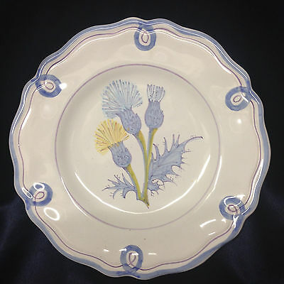 Laura Ashley Yellow Blue Thistle ASL7 Salad Plate Italy