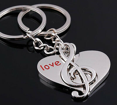 A couple keychain Fashion Metal couples keychains Key Ring for lover F501