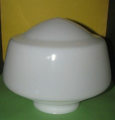 School House Milk Glass Globe Replacement for Ceiling Lamp Vintage White Nr Mint