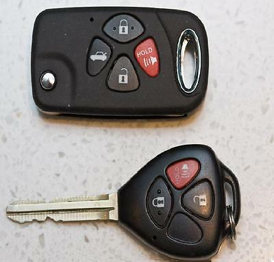 Stylish Four Button Replacment Flip Key Shell For Your Camry Rav4