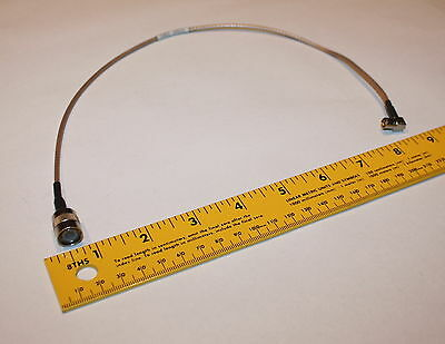 """RF Patch Cable RG316 TNC male to SMB fem right angle 14"""""""