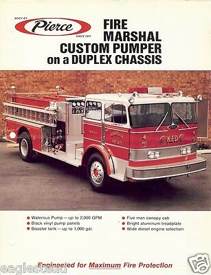 Fire Equipment Brochure - Pierce - Fire Marshall Pumper Duplex Chassis (DB120)