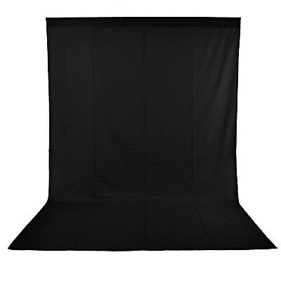Neewer 10x20ft Black Photo Studio Pure Muslin Collapsible Backdrop Background
