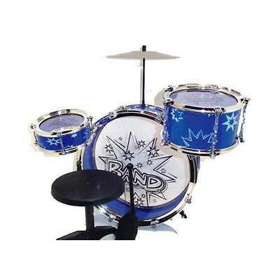 Big Band Drum Set with Chair - Music Toy Instrument for Kids (8 Pc) New