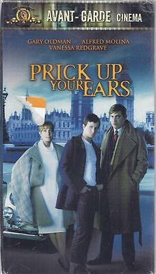 VHS: PRICK UP YOUR EARS......GARY OLDMAN-VANESSA REDGRAVE....NEW