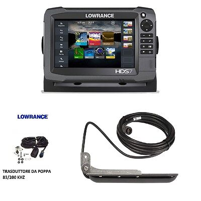 Lowrance Hds-7 Gen3 Touch + Trasduttore 83/200Khz + Structure Scan !