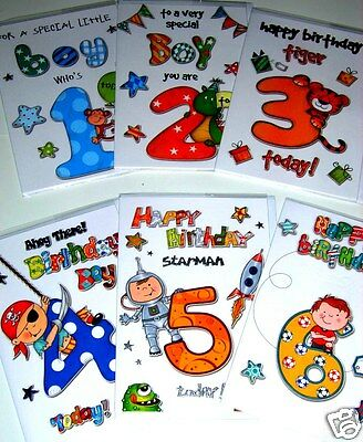 MAGNIFICENT 'ECLIPSE' CARDS X 36, JUST 36p! AGE CARD 1-6 BOYS,insert, wrapped,