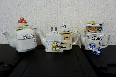 PAUL CARDEW TEAPOT COLLECTION 3 ONE CUP TEAPOTS.