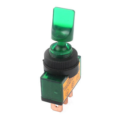 DC 12V Green LED Lamp 2 Position ON/OFF SPST Car Boat Truck Marine Toggle Switch