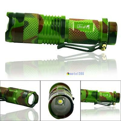 UltraFire 2000LM Q5 LED Zoomable Focus Mini Tactical Flashlight Torch Light MT