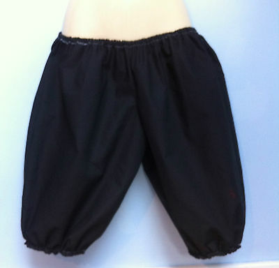 victorian edwardian adult baby black pantaloons sissy maid bloomers fit 30-42 w