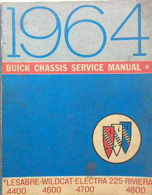 1964 Buick Chassis Service Manual Le Sabre Wildcat Electra Riviera