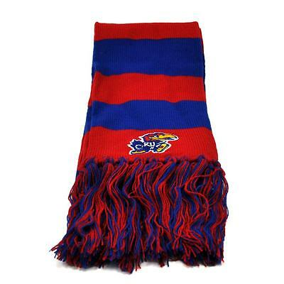 Kansas Jayhawks Official NCAA Striped Two Tone Scarf by Top of the World 384195