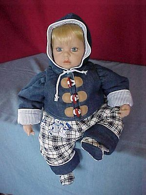 "NIP-Century Baby adorable 4-pc. set for 19"". boy doll"