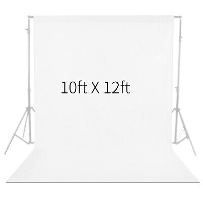 Neewer White 9.8 x11.8ft Photo Studio Fabric Collapsible Backdrop Background