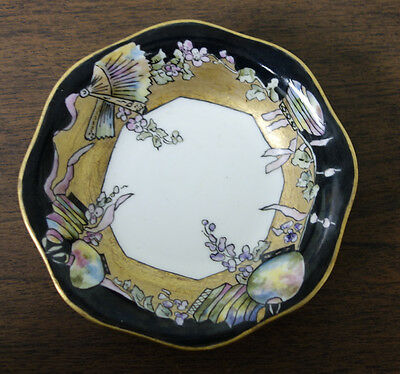 Hand Painted Bowl Fans Flowers & Ornaments Or Oriental Shades? Artist Signed
